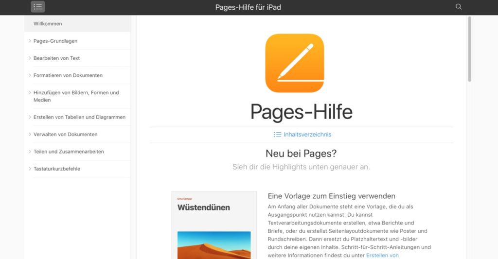 Pages Ipadschule
